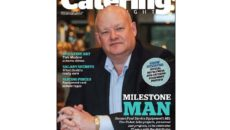The February issue of Catering Insight leads with Garners MD Tim Fisher's 25th anniversary celebrations with the dealer.