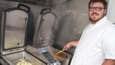 Target Catering Equipment installed the Frima VarioCooking Center 112T for The Angel Inn's head chef, Adam Clayton.