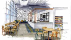 CDG's design for the new At-Bristol cafe.