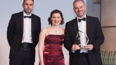 Alliance Online's Andrew Prince (right) picked up the award from Promedia Publishing editorial director, Andrew Seymour and Catering Insight editor, Clare Nicholls.