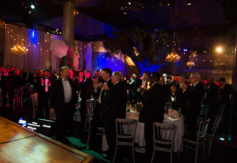Catering Insight Awards attendees were universally up on their feet in recognition of Bill Downie.