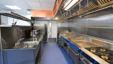 GCS chose a Blue Seal cookline to match the aesthetics of the kitchen, as well as for its robustness and reliability.