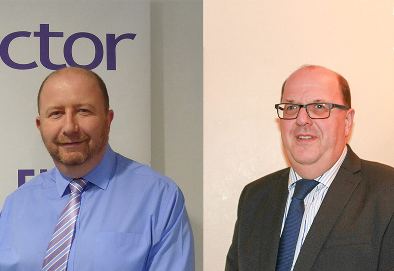 Phil Biggerstaff (left) and Barrie Webster will be supporting Victor's distributors in northern regions.