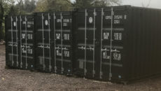 The SpaceBank containers are situated in the centre of Northern Ireland.