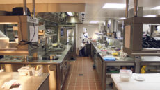 One of the five kitchen areas Hallmark outfitted for the Four Seasons Hotel.