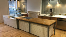 ABDA designed and outfitted this cafe for the Charterhouse in London.