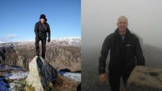 James Connolly and Duncan Hepburn are training for the 215km walk across Scotland for charity.