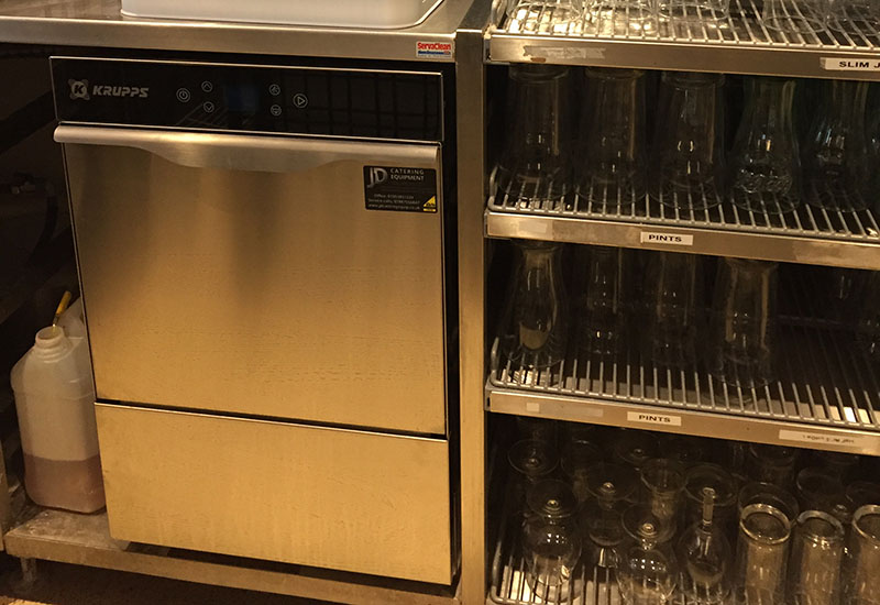 JD Catering Equipment Solutions installed this Krupps glasswasher at Norwich City FC.