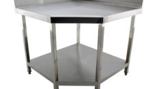 Cater-Kwik's Cater-Cook fabrications include this corner table.
