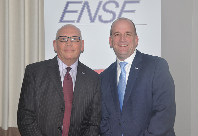 ENSE UK sales director Robin McKnight and MD Bob Adams celebrated the buying consortium's fifth anniversary.