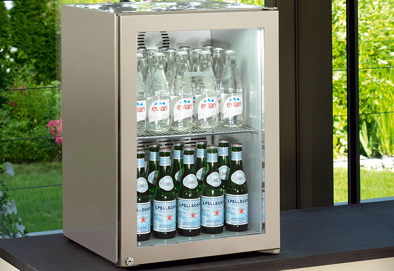 Liebherr's FKDv 3713 Premium forced-air display refrigerator features an LED display.