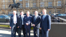 L-r: Keith-Warren, Phil Williams, Lord Trefgarne, Glenn Roberts and Richard Cromwell at Westminster for the meeting with Lord Bridges.