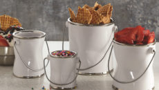 American Metalcraft's Crushed Paint Cans are available in four sizes.