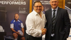 David Reynolds was instrumental in signing up Richard Hill as Maidaid's brand ambassador.