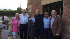 Simon Rimmer (third from right) and the Alvanley Arms team.