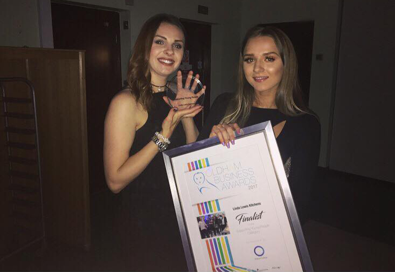 Jenna Lewis and Grace Carr picked up LLK's Oldham Business Award.