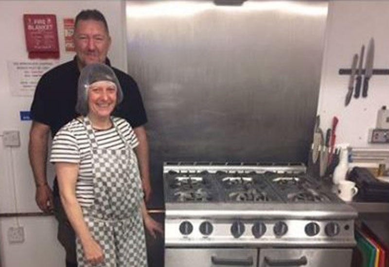 The SIFA Fireside team with the cooker donated by Lloyd Catering Equipment.