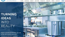Vision Commercial Kitchens' new website design.