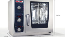 The Rational CombiMaster Plus XS is 55.5cm deep.