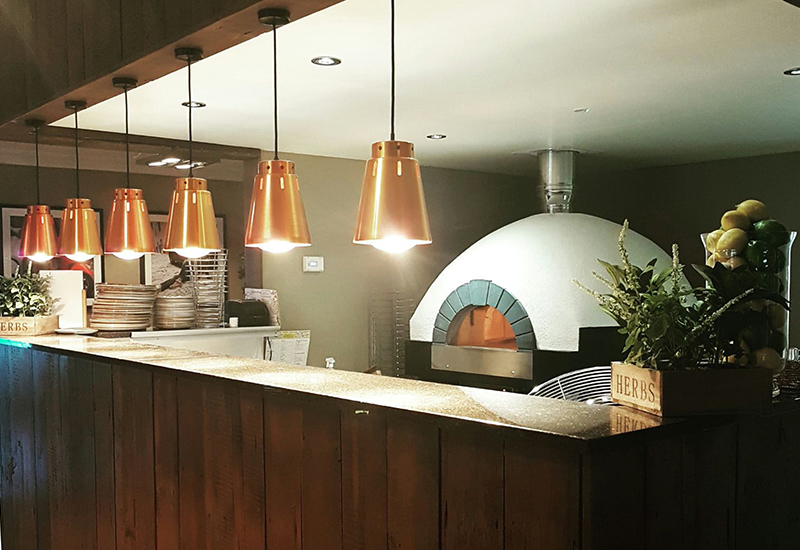 LLK supplied the gas living flame Verrocchio pizza oven for CKS' Ribby Hall outfit.