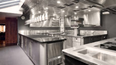 The Fat Duck's new kitchen features a Nobel fire suppression system.