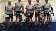 The Mechline-led 'Hairy Test Cycles' team braved the elements for Hospitality Action.