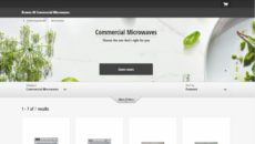 Panasonic's new professional microwaves website is designed to be easier to navigate.