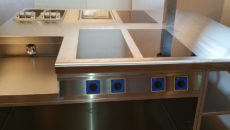 The Cuisinequip induction suite installed at the Great British Restaurant.