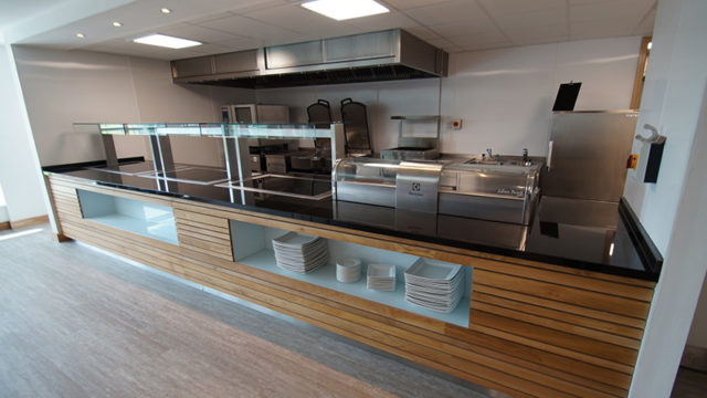C&C outfitted this canteen area at Finch Farm.