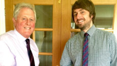 L-r: Mike Graham and Gavin McKew, who is the new owner of G&M Supplies.