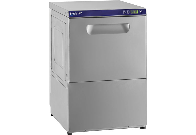 All i Series glasswasher cycles are started by soft touch responsive buttons.