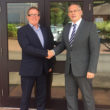Maidaid Halcyon sales director Julian Lambert welcomed Simon Wale (right) as national accounts manager.