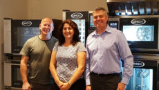 Unox UK's new joiners: Mike Carter, Janet Ayres and Clive Mason.