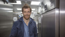 Tom Aikens with the Williams refrigeration Salix installed in his latest restaurant.