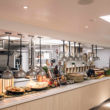 CDG created this open kitchen and servery for The Beacon preparatory day school.