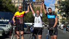 Chris Birch (left) is again cycling to Paris to raise money for Springboard.