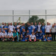 The Foster and Williams football teams which lined up to raise money for The Queen Elizabeth Hospital, King's Lynn.