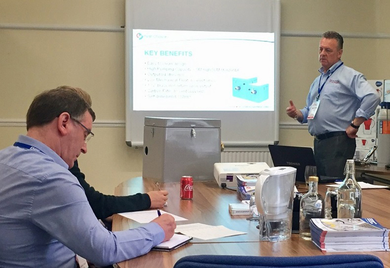 Martin Allen from First Choice Group explains the issues around waste management to delegates attending a recent training conference.