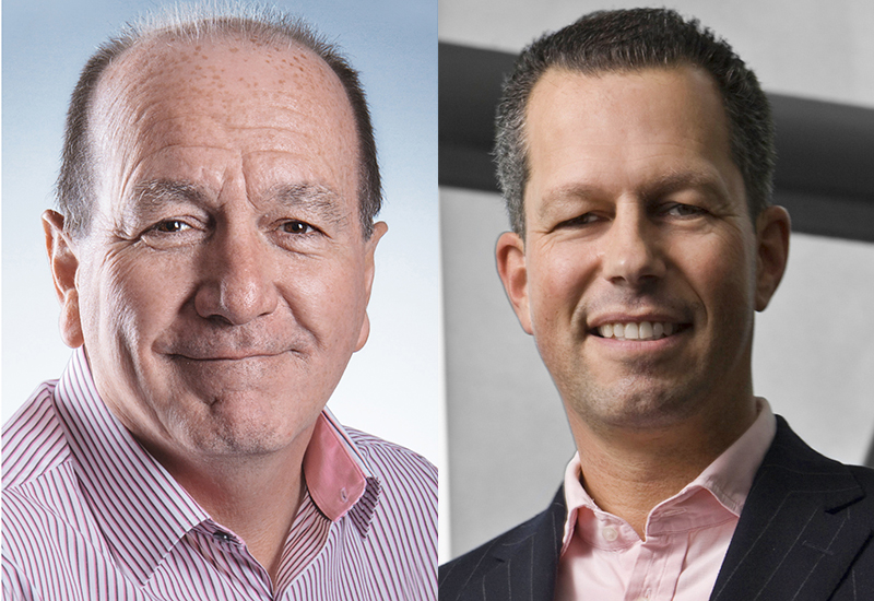 Paul McMahon (left) is stepping down as Nisbets MD with Klaus Goeldenbot joining as CEO.