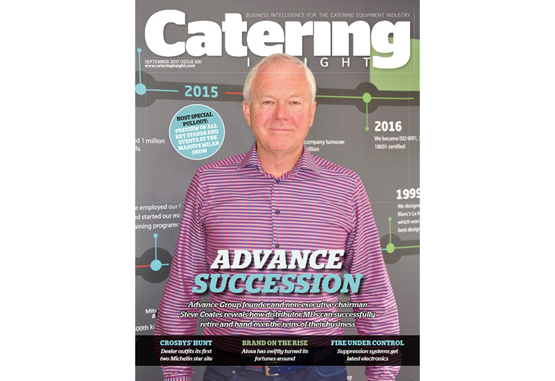 Catering Insight's September issue leads with Advance Group's Steve Coates advising distributor MDs how to plan for retirement.