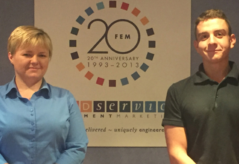 Magda Sadan is now FEM's stock and logistics controller, while Alan Dawson has been promoted to service technician.