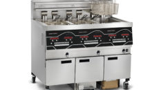 The updated Henny Penny Evolution Elite fryer features automated oil quality testing.