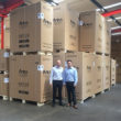 National sales manager Lee Donkin (left) and UK MD Alan Cheng demonstrate the high stock levels.