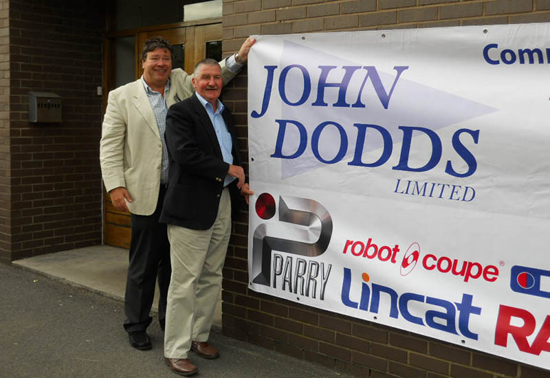 Nigel Dodds ran John Dodds Ltd with his brother Trevor, pictured (right) with ex sales manager Noel Warke, until 2015.