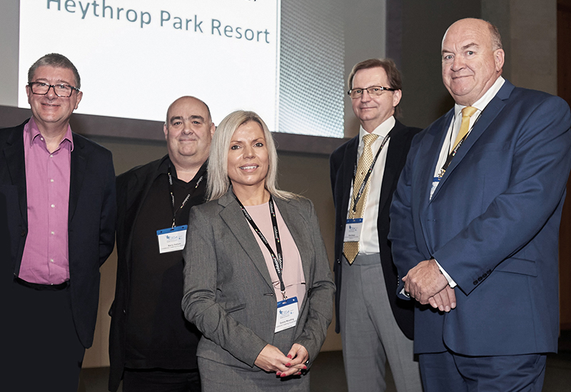 Cedabond's board (l-r): Mike Nunn, Barry Hallam, Donna Wooding, Clive Groom and Phil Martin.