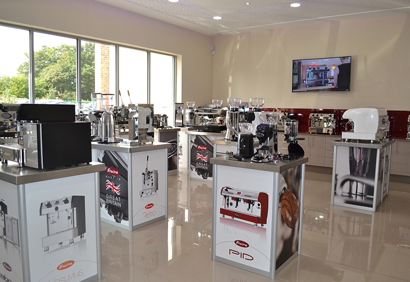 Fracino invested £250,000 in a new on-site showroom.