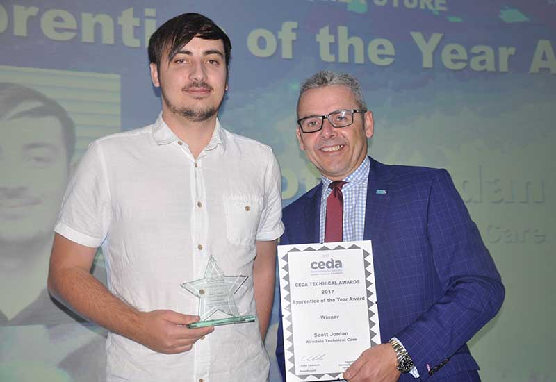 Airedale Technical Care's Scott Jordan won the Apprentice of the Year category.