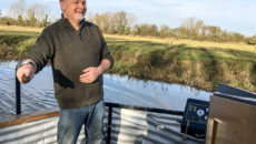 Stuart Long will be spending early retirement sailing on his canal boat.