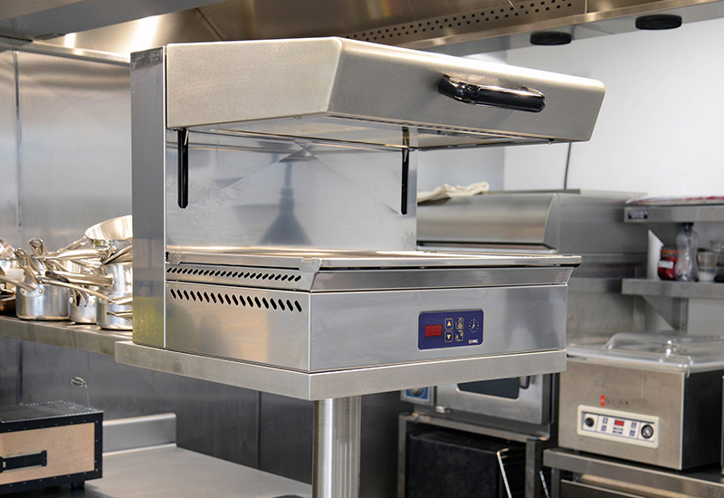 Grande Cuisine's Capic salamander grills use quick-therm heating elements.