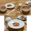 This soup was one dish presented to consumers in the research in three different tableware sets.
